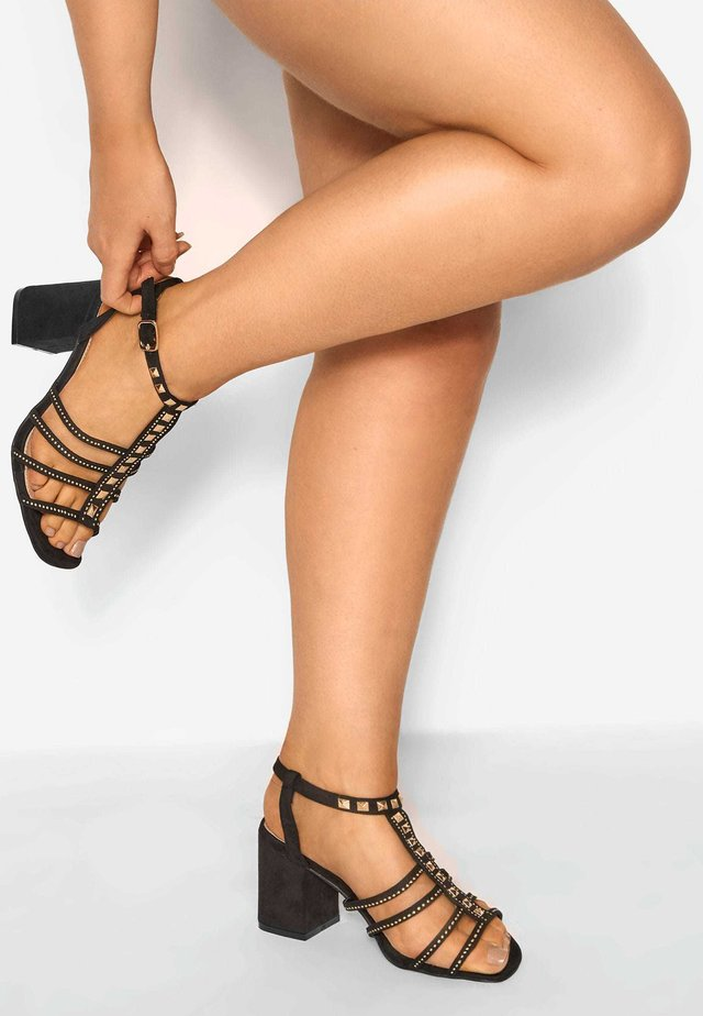 LIMITED COLLECTION STUDDED  - High heeled sandals - black