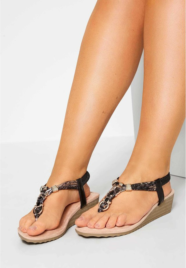 TWIST TONE  - Wedge sandals - black