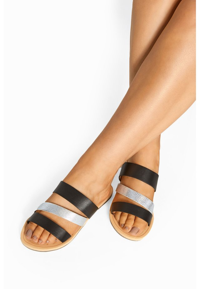 SHIMMER STRAP IN EXTRA WIDE FIT - Mules - black