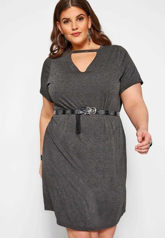 CHOKER - Jersey dress - grey