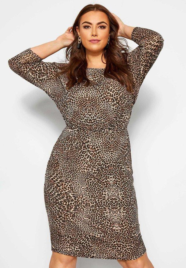 BODYCON - Jersey dress - brown