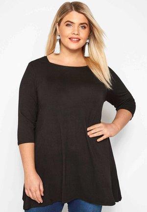 LONGLINE - Long sleeved top - black