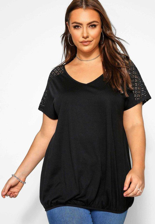 BUBBLE - Print T-shirt - black