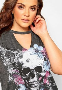 Yours Clothing - Top - grey - 3