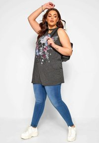 Yours Clothing - Top - grey - 1