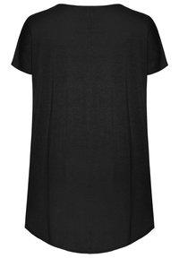 Yours Clothing - Print T-shirt - black - 5