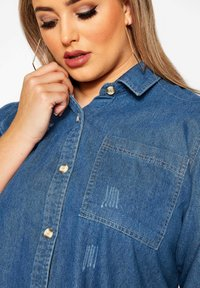 Yours Clothing - Button-down blouse - blue - 2