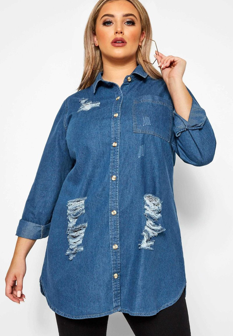 Yours Clothing - Button-down blouse - blue