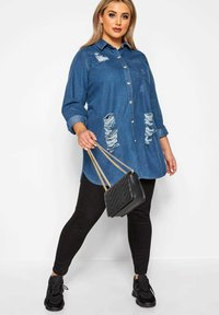Yours Clothing - Button-down blouse - blue - 1