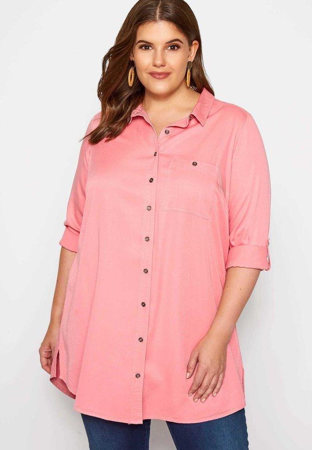 BOYFRIEND - Button-down blouse - pink