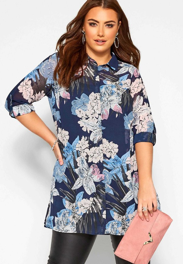 ABSTRACT - Button-down blouse - blue