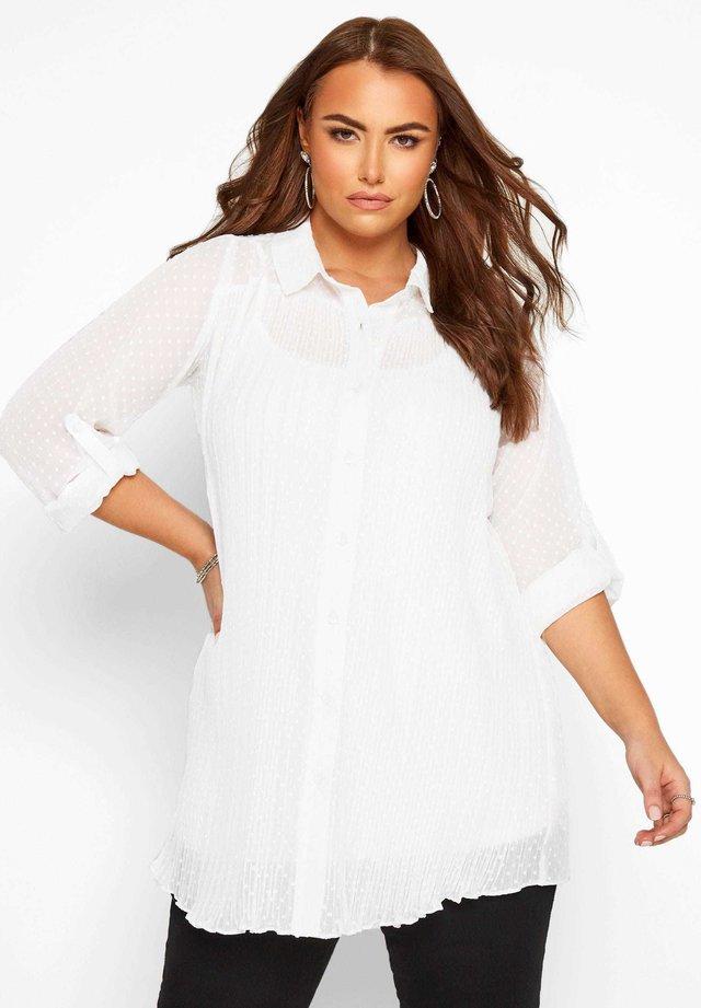 LONDON  - Button-down blouse - white