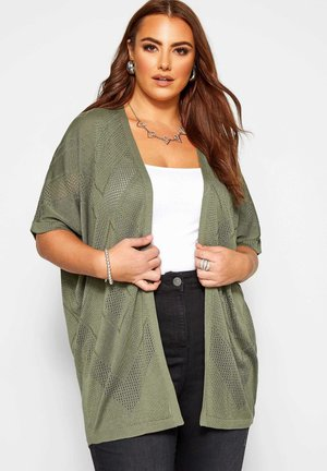 POINTELLE COCOON - Cardigan - green