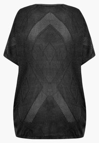 Yours Clothing - COCOON - Cardigan - black - 4