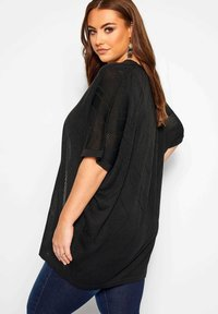 Yours Clothing - COCOON - Cardigan - black - 2