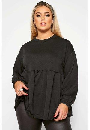 PEPLUM  - Sweatshirt - black