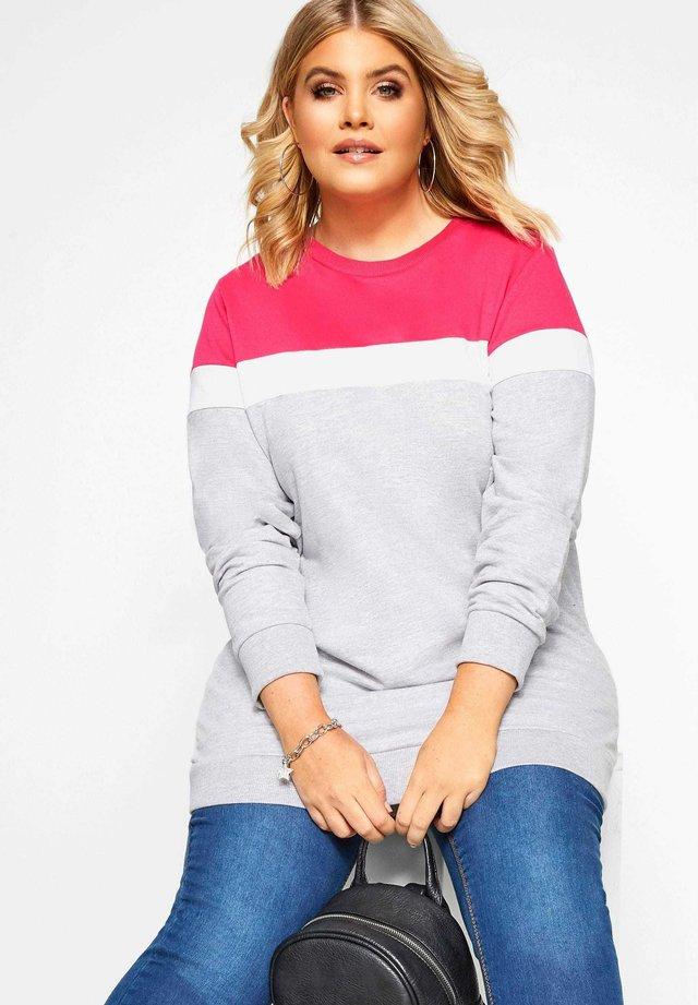 COLOUR BLOCK - Sweatshirt - grey