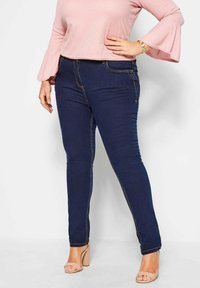 Yours Clothing - RUBY - Straight leg jeans - blue - 0