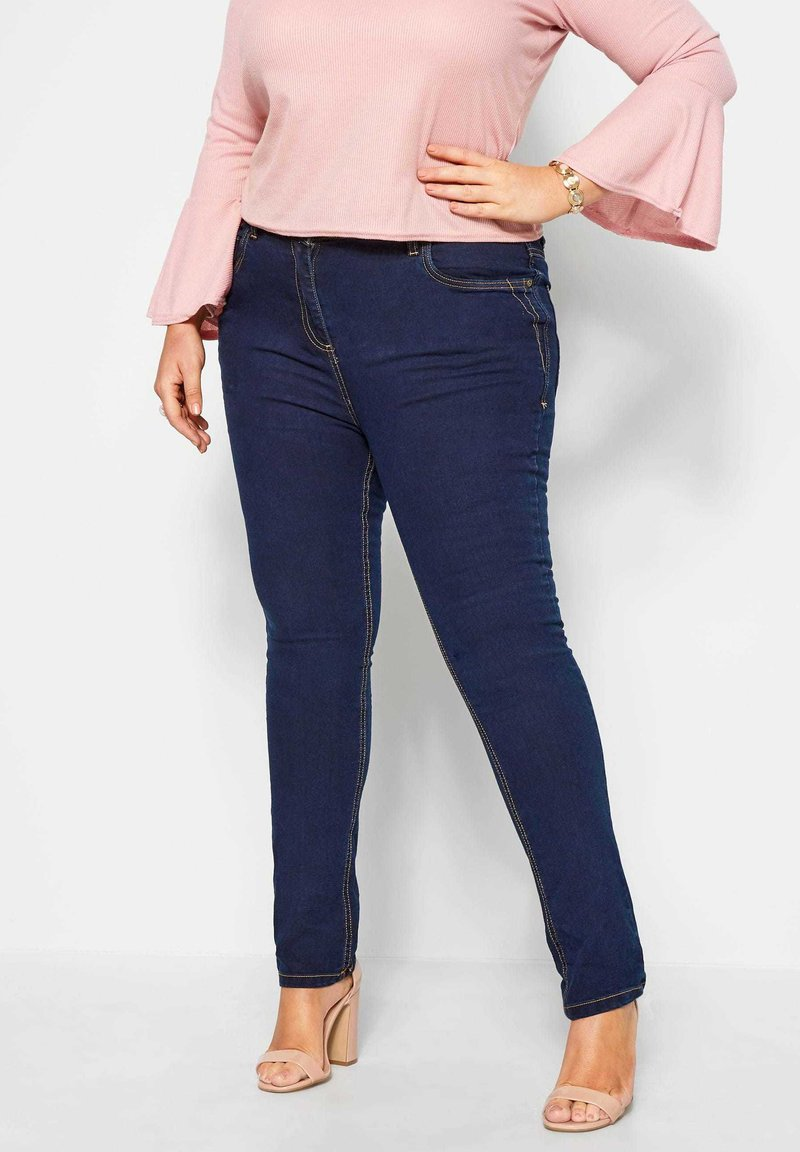 Yours Clothing - RUBY - Straight leg jeans - blue
