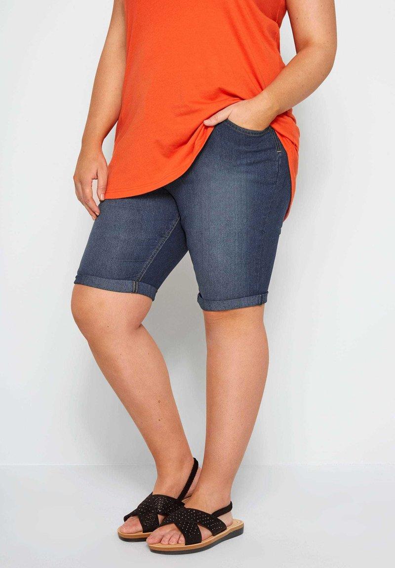 Yours Clothing - Denim shorts - blue