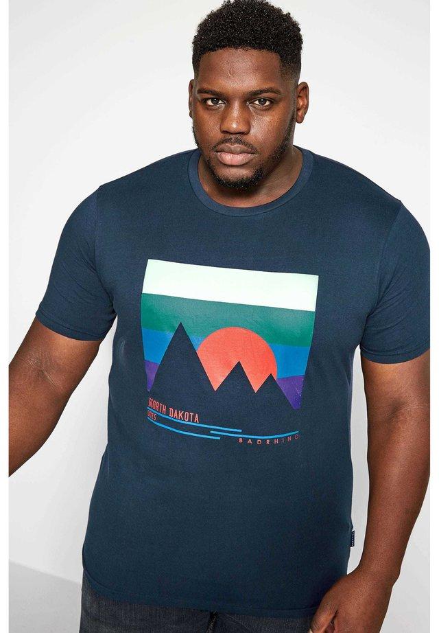 NORTH DAKOTA - Print T-shirt - blue