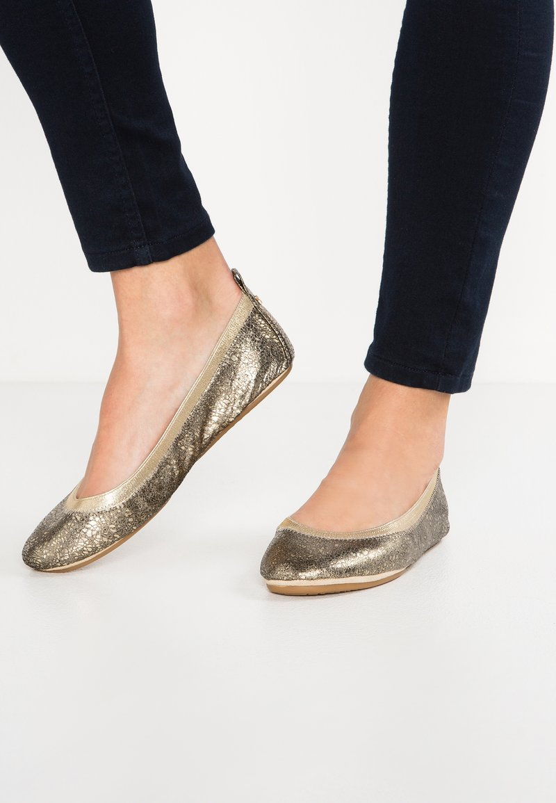 Yosi Samra - SAMARA - Foldable ballet pumps - gold