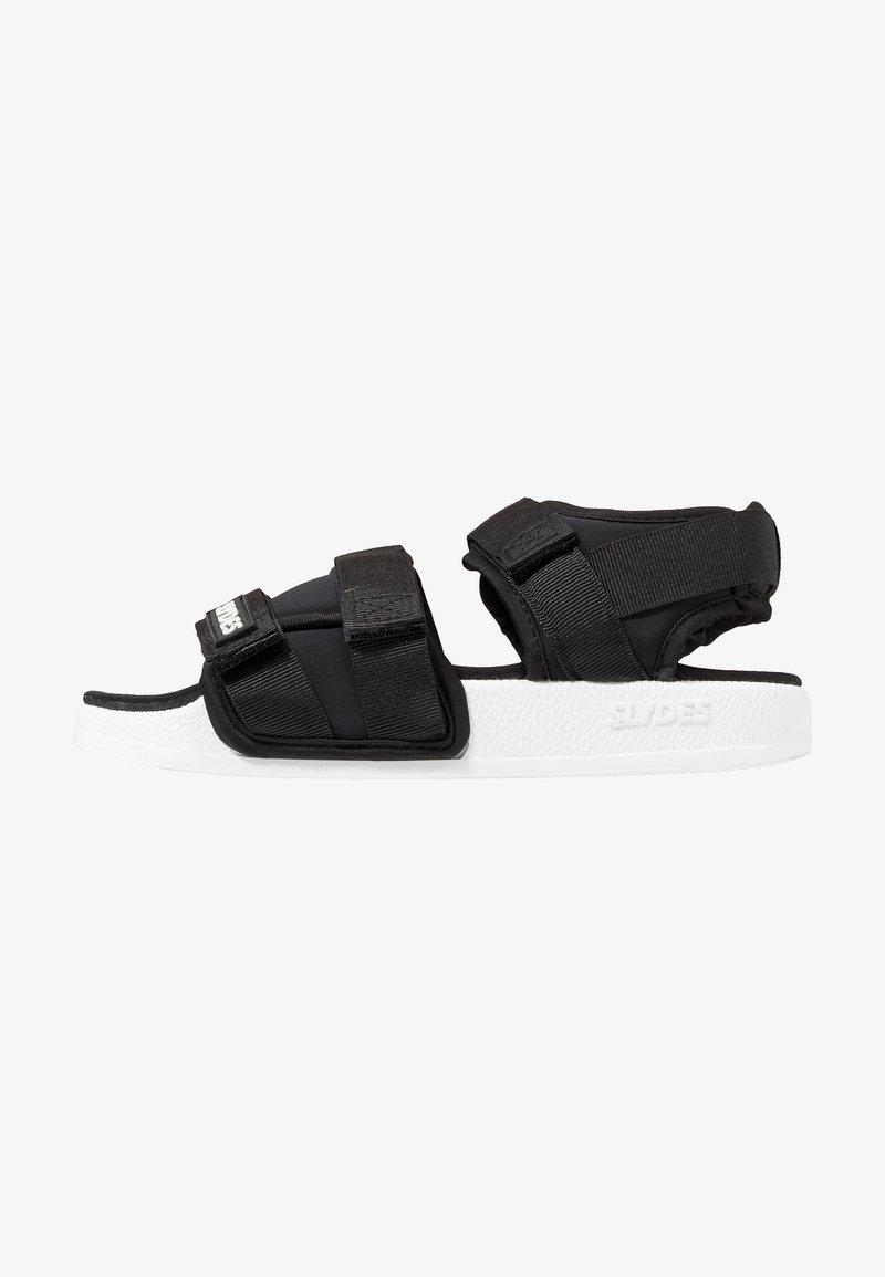 Slydes - RUNNER - Sandals - black/white