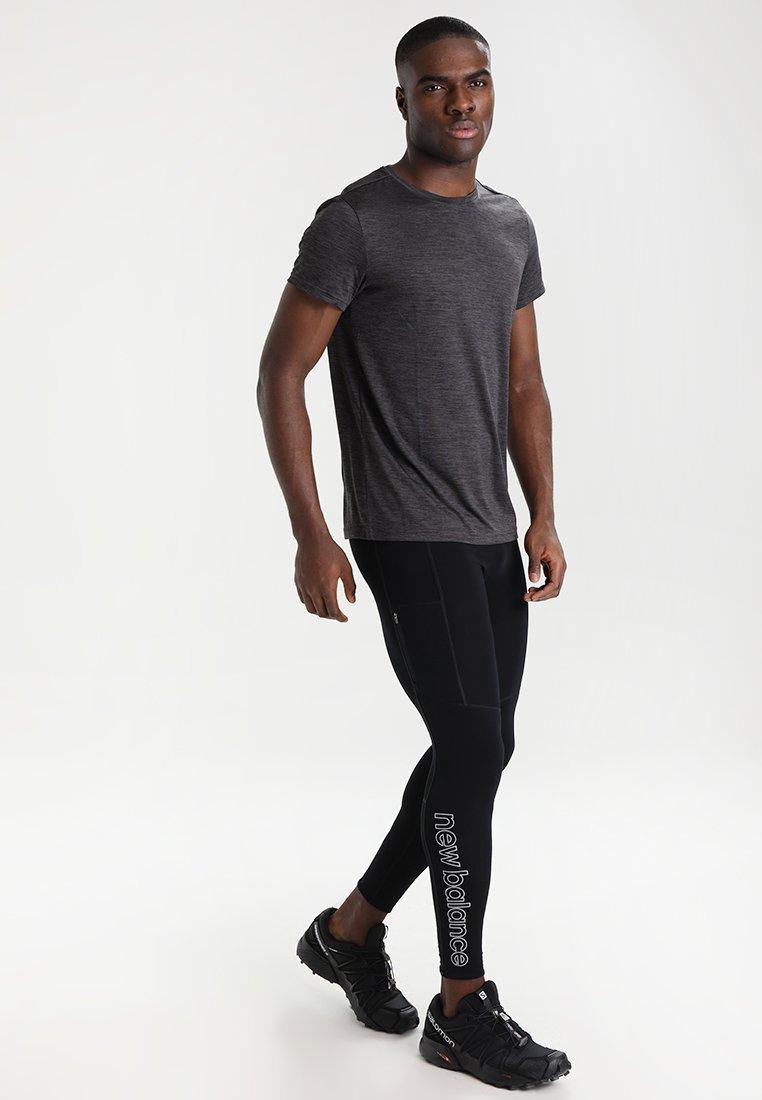 Your Turn Active - 2-PACK - T-shirt basic - dark grey melange/red melange
