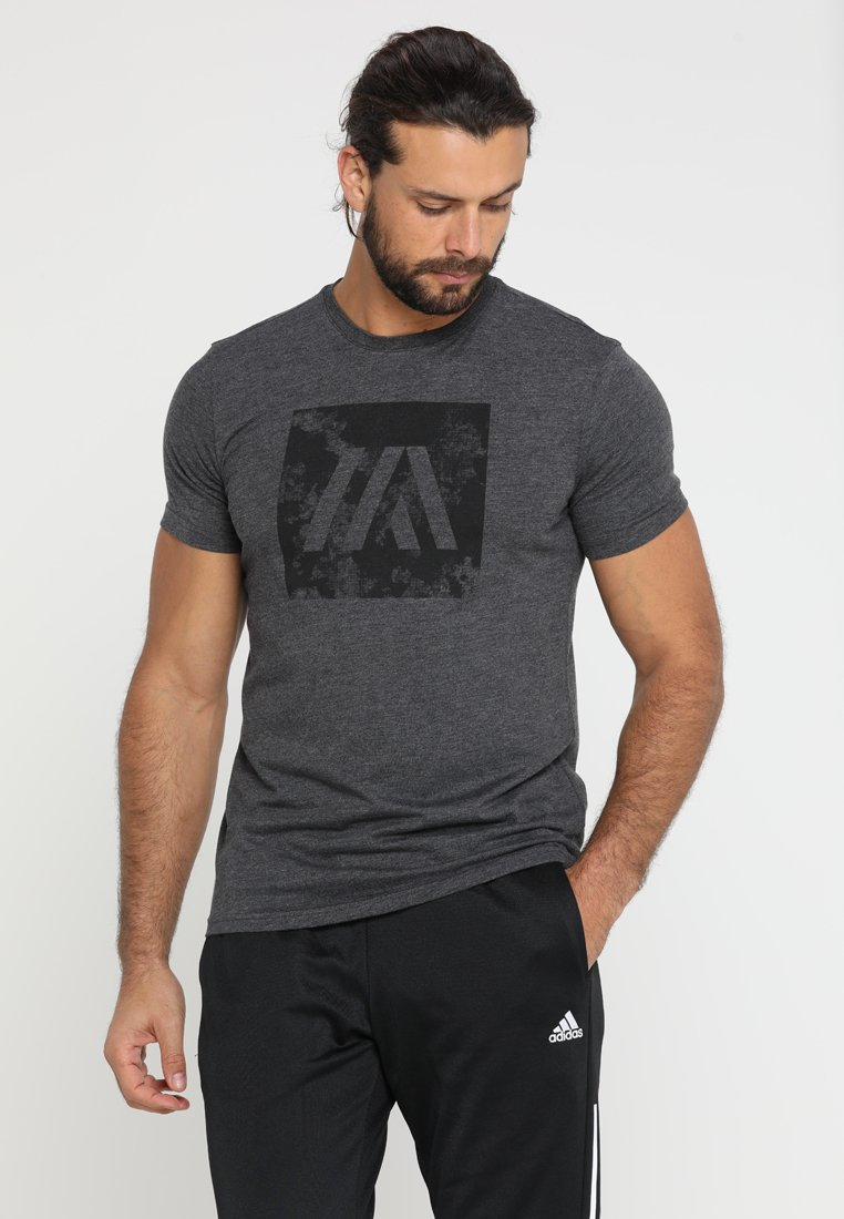 Your Turn Active - Print T-shirt - dark grey melange