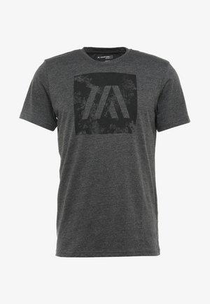 T-shirt z nadrukiem - dark grey melange