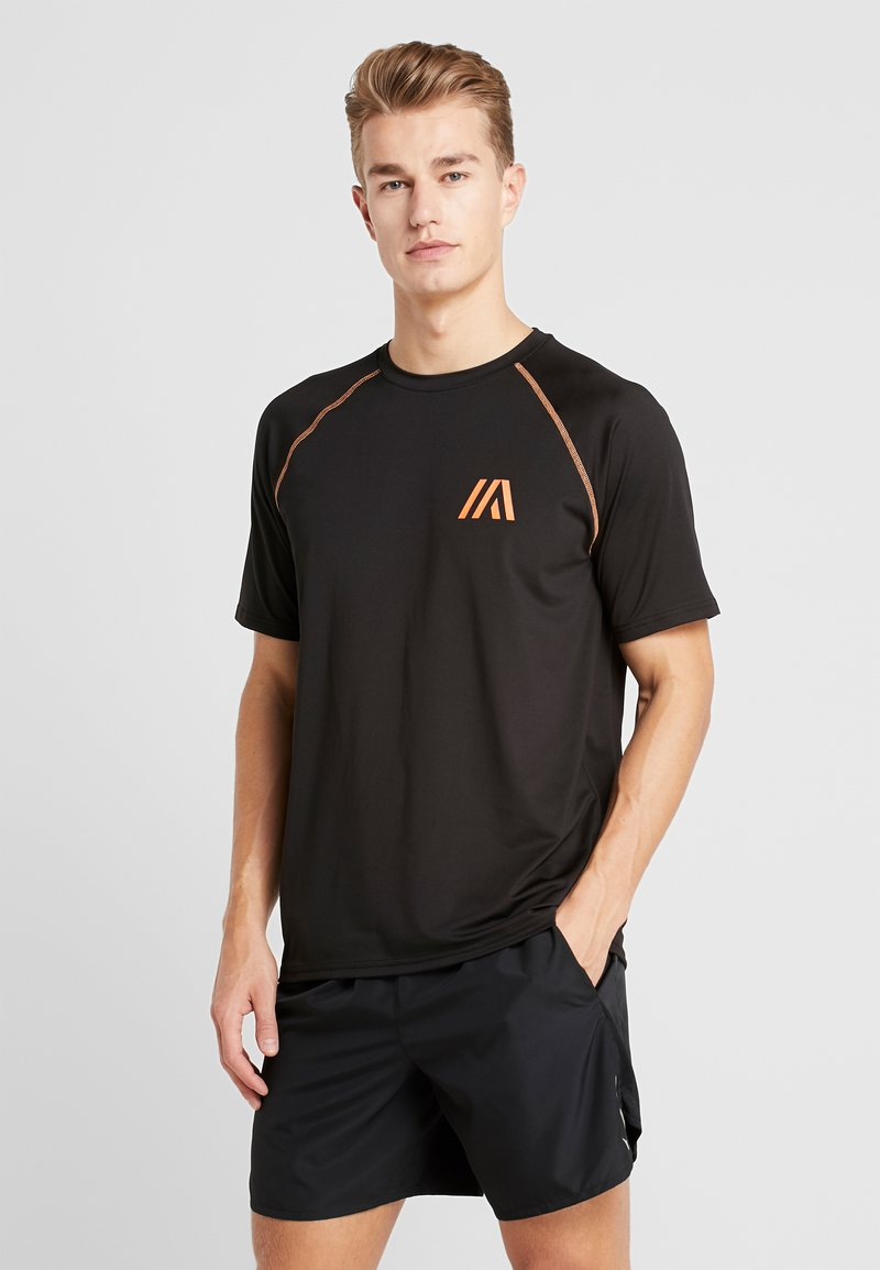 Your Turn Active - T-shirt con stampa - black