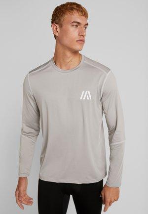 Camiseta de manga larga - mottled light grey
