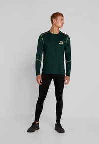 Your Turn Active - Long sleeved top - dark green - 1