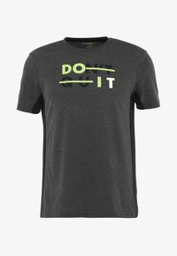 Your Turn Active - Print T-shirt - mottled dark grey - 4