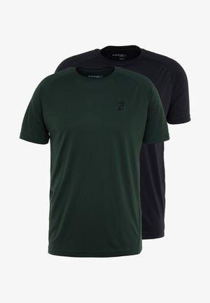 2 PACK - Basic T-shirt - green/black