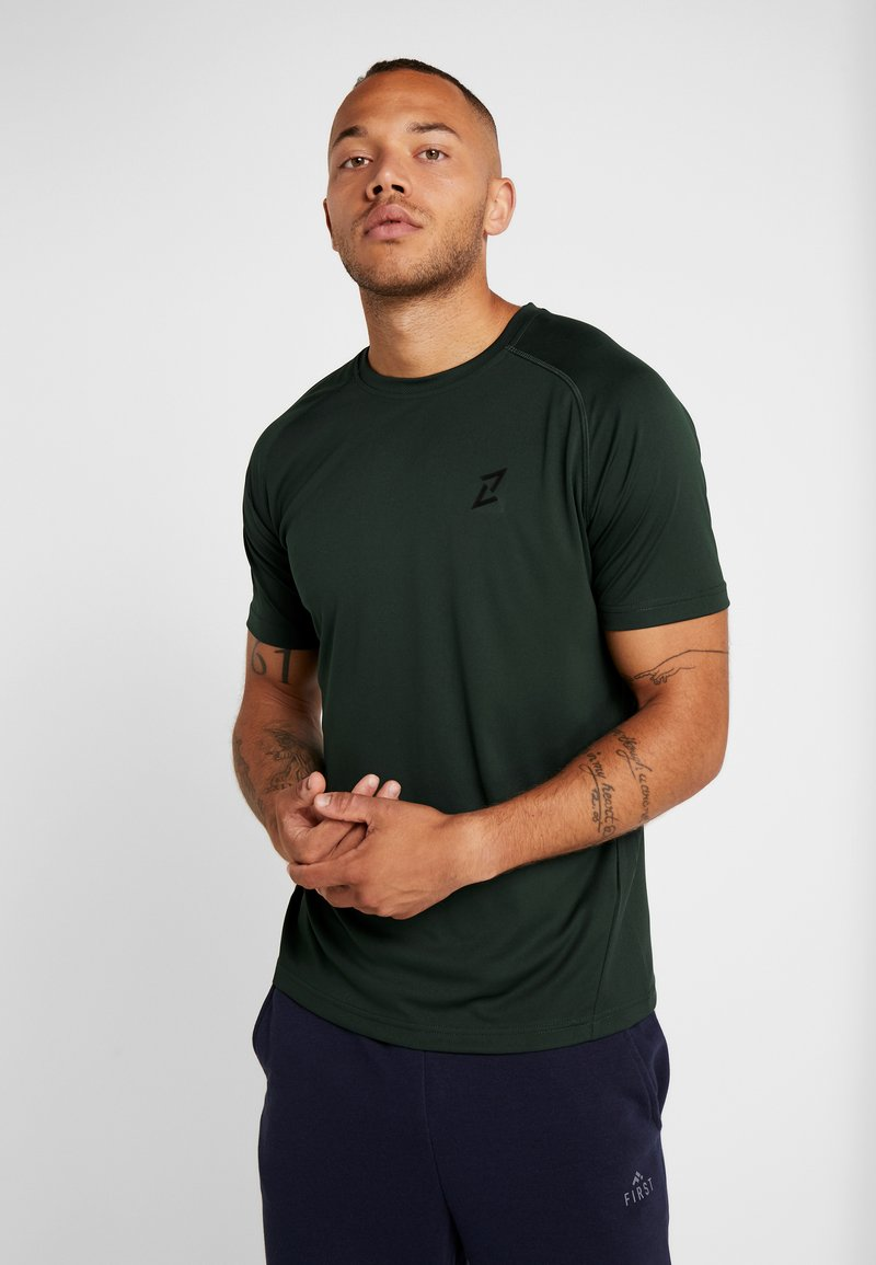 Your Turn Active - 2 PACK - T-shirt basic - green/black