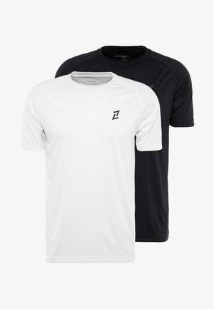 2 PACK - Jednoduché triko - black/off white