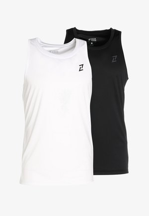 2 PACK - T-shirt de sport - white/black