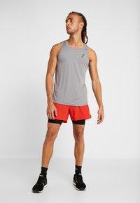 Your Turn Active - 2 PACK - Camiseta de deporte - black/mid grey melange - 0