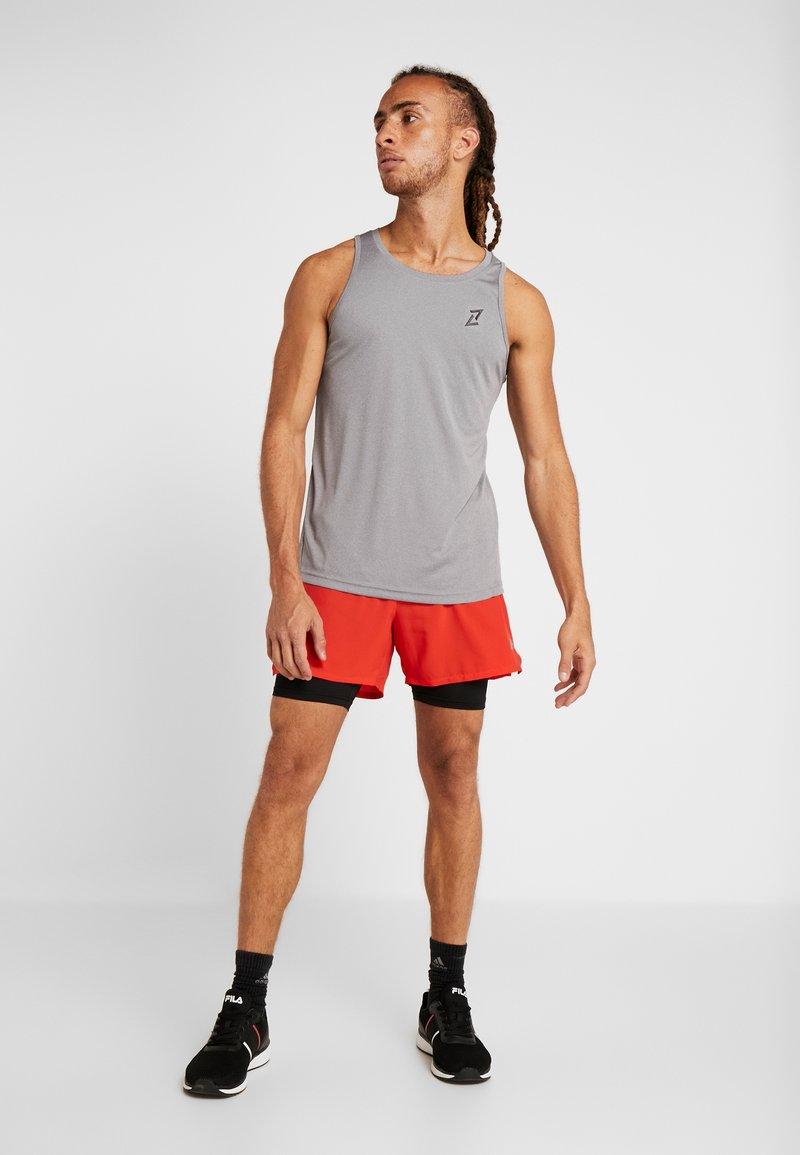 Your Turn Active - 2 PACK - Camiseta de deporte - black/mid grey melange