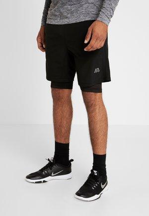 2-IN-1 - Pantalón corto de deporte - black