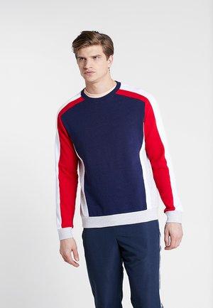 Sweatshirt - white/dark blue