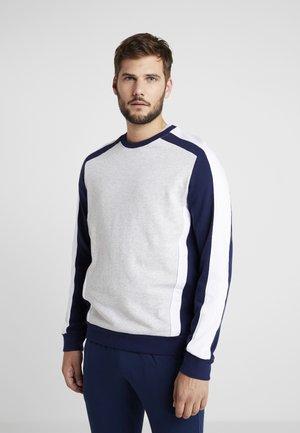 Sweatshirt - blue/grey/white
