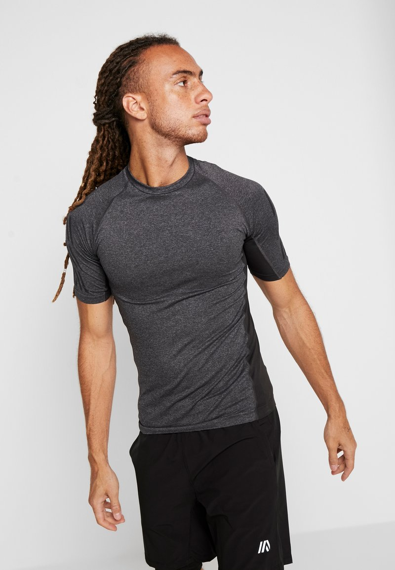 Your Turn Active - T-shirt con stampa - dark gray