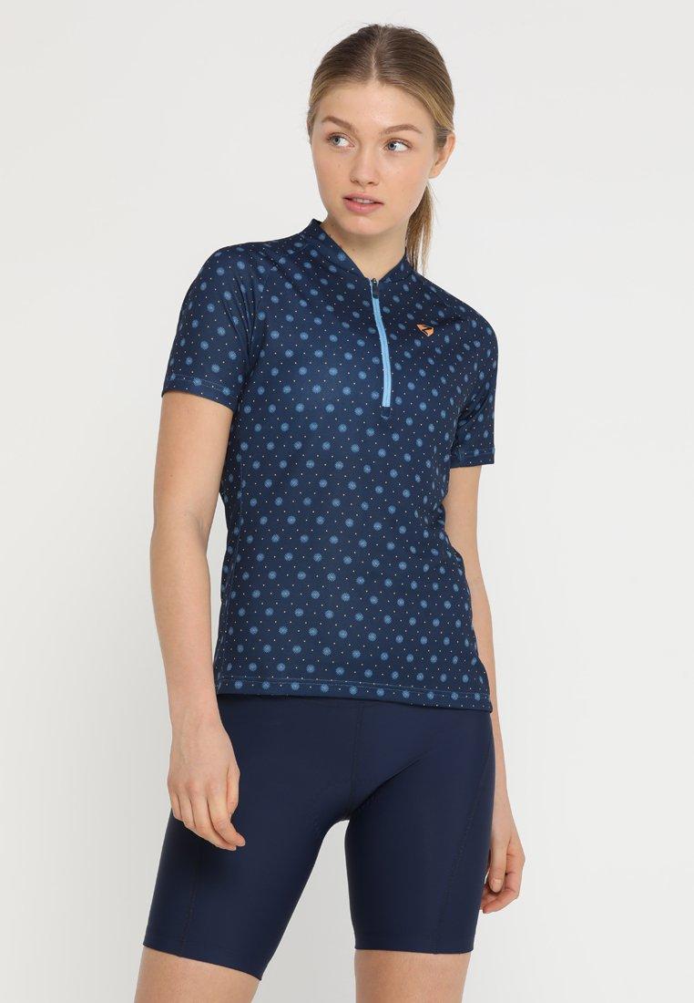 Ziener - CAHINA LADY TRICOT - Print T-shirt - antique blue