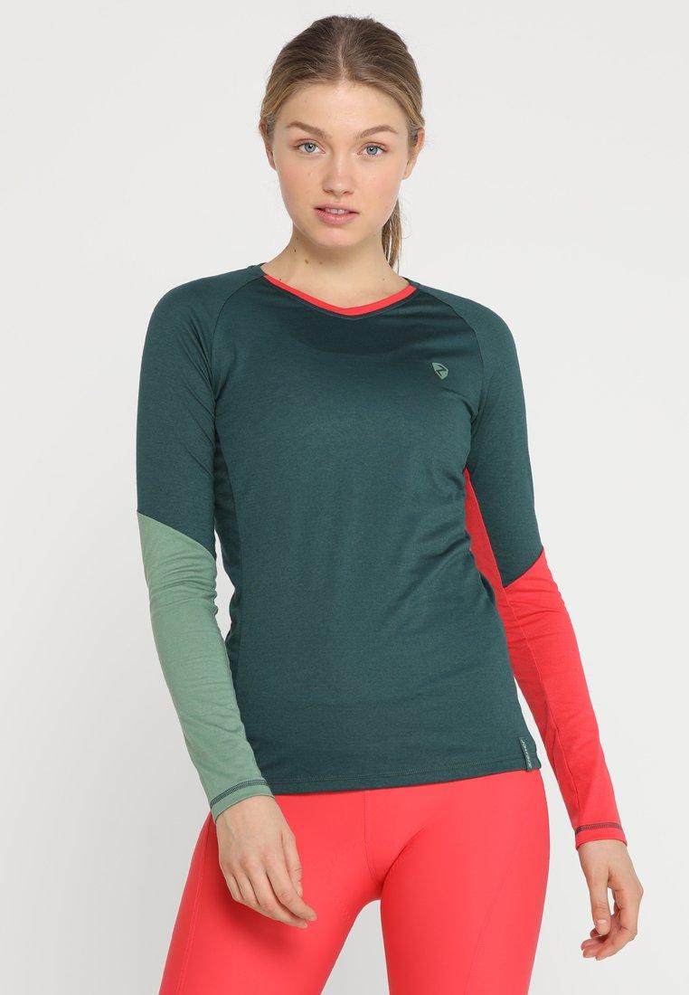 Ziener - NAREI LADY LONGSLEEVE - Long sleeved top - spruce green
