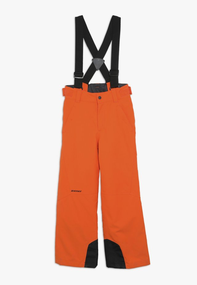 ANDO JUNIOR - Ski- & snowboardbukser - bright orange