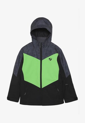 AVAN JUNIOR - Skijakke - black/green