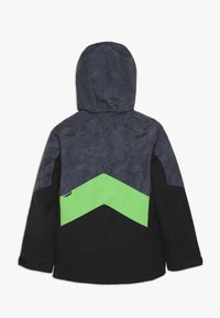Ziener - AVAN JUNIOR - Ski jacket - black/green - 1
