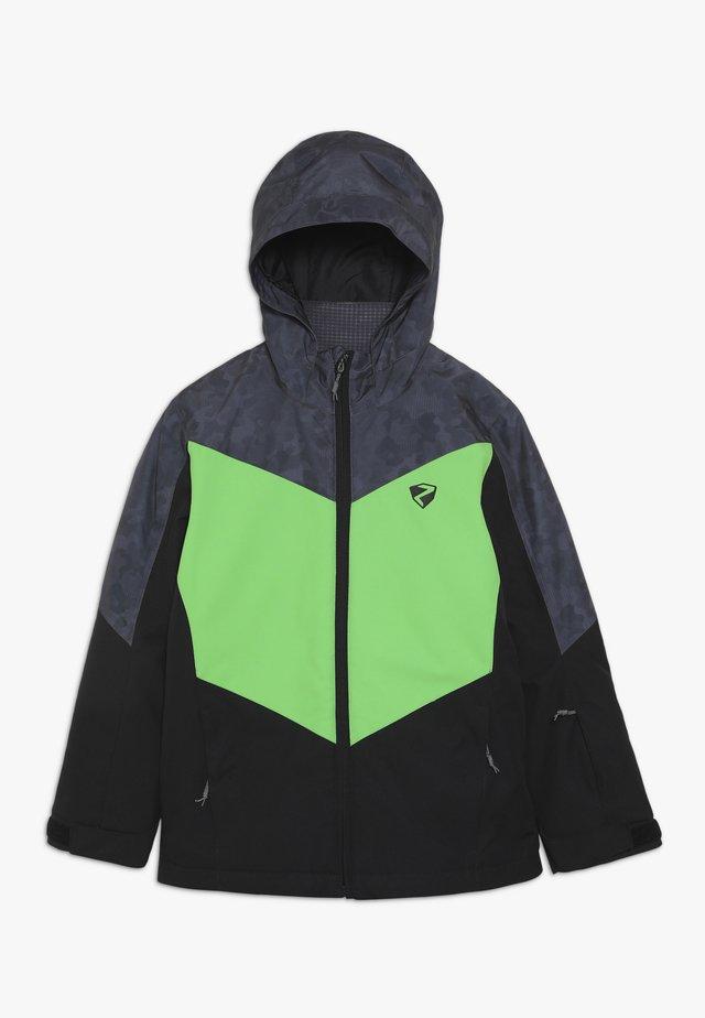 AVAN JUNIOR - Ski jacket - black/green
